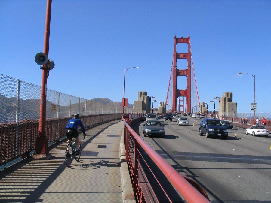 Bikecal Com Bill Oetinger Golden Gate Bridge Speed